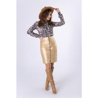 pencil skirt with decorative zipper dámské Neurčeno 38