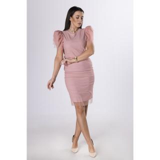 pencil skirt with mesh upper dámské Neurčeno S