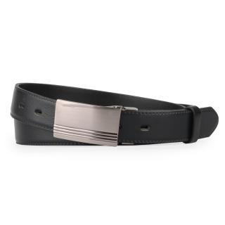 Penny Belts Pánský kožený opasek 30-020-2PS, černý - 100 černá 100