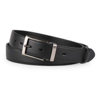 Penny Belts Pánský kožený společenský opasek s trnovou sponou 35-020-1-60 černý - 100 černá 100