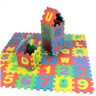 Pěnové puzzle číslice a písmena