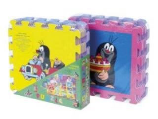 Pěnové puzzle Krtek 30x30cm asst 4 barvy 8ks v sáčku