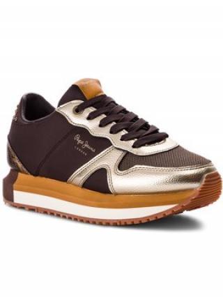 Pepe Jeans Sneakersy Zion Studs PLS30787 Hnědá dámské 39