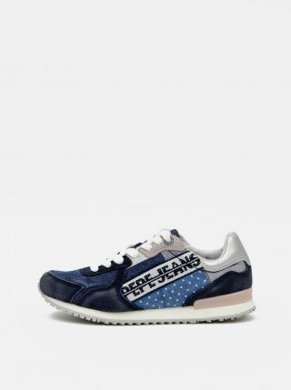 Pepe Jeans tenisky s denimovými a semišovými prvky - 36 dámské modrá 36
