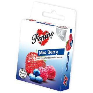 Pepino Mix Berry kondomy 3 ks pánské 3 ks