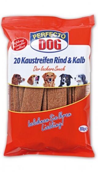 Perfecto Dog plátky hovězí telecí 20ks