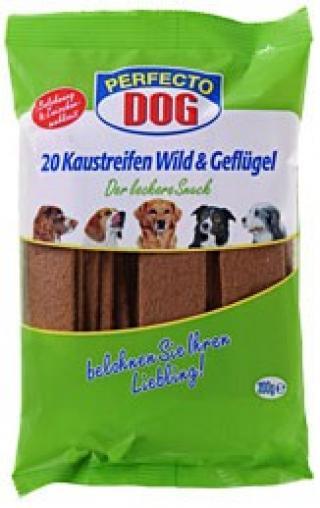 Perfecto Dog plátky zvířecí drůbeží 20ks