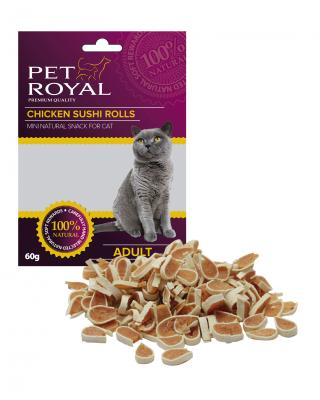 Pet Royal Cat kuřecí Sushi 60g