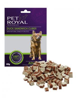 Pet Royal Dog Mini kachni sandwich kostky 60g