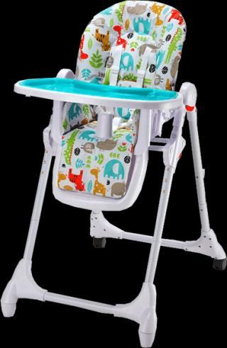 PETITE&MARS Jídelní židlička Zola - modrá mix barev