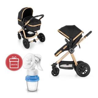 PETITE&MARS Kočárek kombinovaný 3v1 Grand II Golden Ebony   Philips AVENT Odsávačka mateřského mléka hnědá