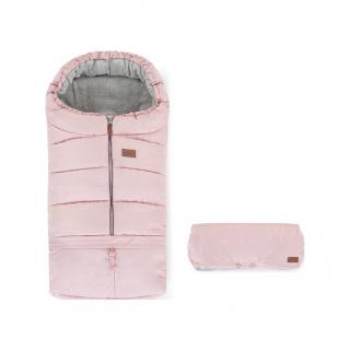 PETITE&MARS Set fusak 3v1 Jibot a rukávník Jinja Flamingo Pink růžová