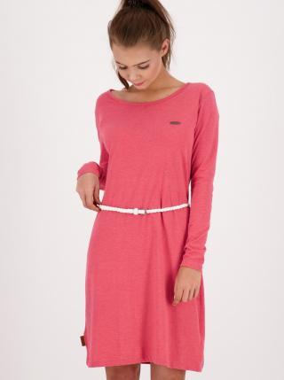 Pink dress with Alife and Kickin belt dámské růžová XS