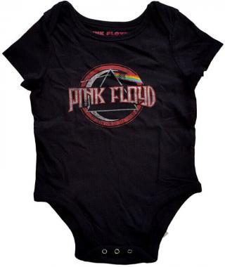 Pink Floyd Vintage Dark Side of the Moon Seal Baby Grow Black  2 Years