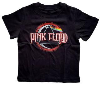 Pink Floyd Vintage Dark Side Of the Moon Seal Toddler T-Shirt Black  1 Year