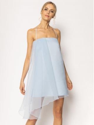 Pinko Koktejlové šaty Angiebel 20201 PBK2 1B14A9 7980 G47 Modrá Regular Fit dámské 40
