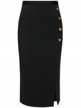 Pinko Midi sukně Monsone 3 1G160H 5872 Černá Regular Fit dámské 42