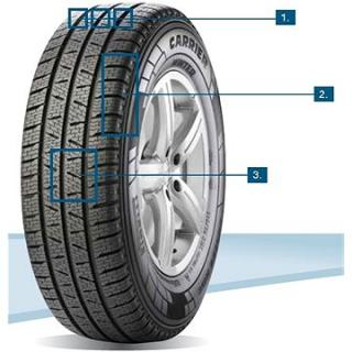 Pirelli CARRIER WINTER 205/65 R15 102 T zimní