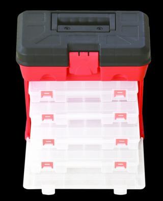 Plastový kufr pro organizaci AHProfi se 4 šuplíky