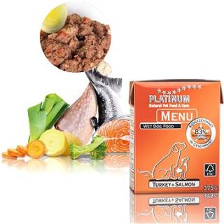Platinum natural menu turkey salmon krocan losos 375 g