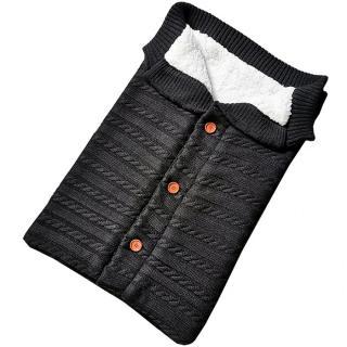 Pletený fusak s koflíky Barva: černá