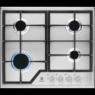 Plynová varná deska Electrolux nerez KGS6426SX chrom nerez