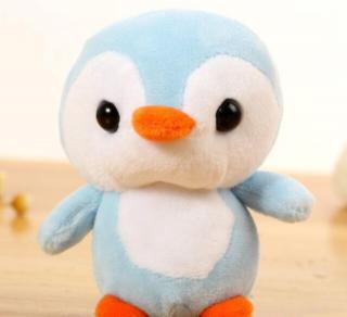 Plyšový tučňák Barva: světle modrá