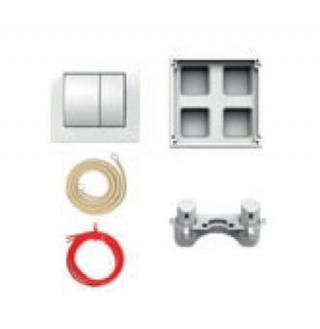 Pneumatické oddálené ovládání Jika plast bílá mat H8956430000001 bílá bílá