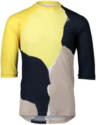 POC MTB Pure 3/4 Jersey Color Splashes Multi Sulfur Yellow S pánské S