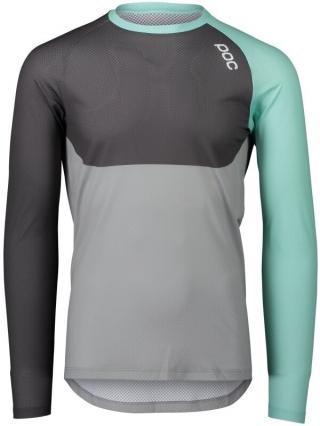 POC MTB Pure LS Jersey LT Fluorite Green/Sylvanite Grey/Alloy Grey S pánské S