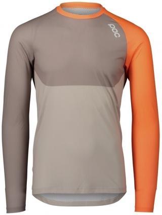 POC MTB Pure LS Jersey Zink Orange/Moonstone Grey/LT Sandstone Beige XL pánské XL