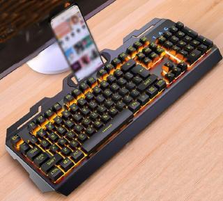 Podsvícená herní klávesnice s držákem na telefon Varianta: 1