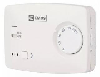 Pokojový termostat emos t3, drátový, manuální