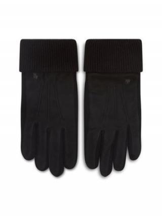 Polo Ralph Lauren Dámské rukavice Suede Sandwich Glove 449833580001 Černá S
