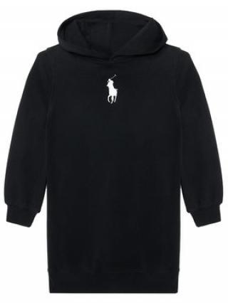 Polo Ralph Lauren Každodenní šaty Hood Flc Drs 313837221008 Černá Regular Fit dámské S