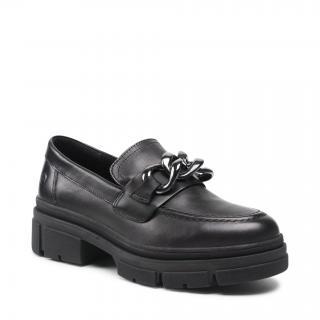 Polobotky TAMARIS - 1-24708-37 Black Leather 003 dámské Černá 41