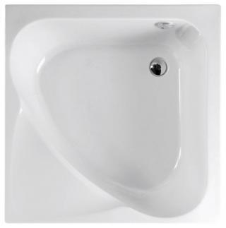 Polysan CARMEN hluboká sprchová vanička, čtverec 90x90x30cm, bílá,29611