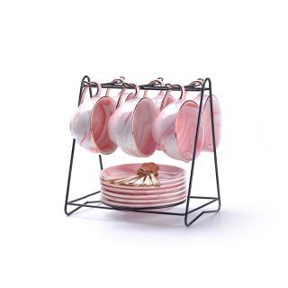Porcelánová čajová sada 18 ks C126 Barva: růžová