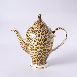Porcelánová konvice na čaj leopard