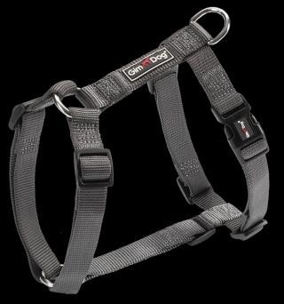 Postroj Gimborn Nylon H 3,8x80-110cm černý