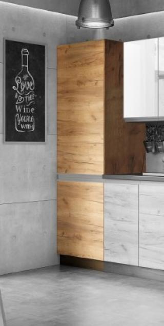 Potravinová skříň ke kuchyni brick light - ii. jakost dub