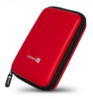 Pouzdra pro HDD pevné ochranné pouzdro na 2,5 hdd connect it cff5000rd, červené