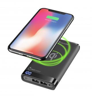 Powerbanka CellularLine FreePower Manta 8000 s funkcí bezdrátového nabíjení, černá