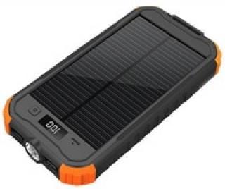 PowerBanka Viking CHARLIE II 12000mAh solární outdoorová, black orange