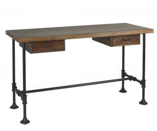 Pracovní stůl Pipa Drawers Hnědá