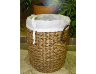 Prádelní koš, vodní hyacint, kulatý prádelní koš vyšší - vodní hyacint