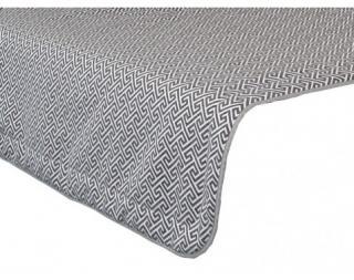 Přehoz na postel Dezra PRE 27, šedo-bílý vzor