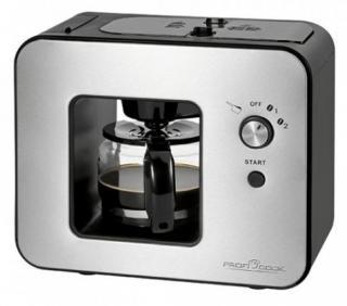 Překapaváč kávy kávovar s mlýnkem proficook ka 1152
