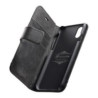 Prémiové kožené pouzdro Cellularline Supreme pro Apple iPhone X černé