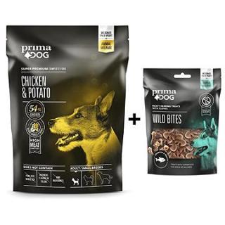 PrimaDog Kuře s bramborami pro dospělé psy malých plemen 1,5 kg   Pamlsek sleď s hřebíčkem 100 g